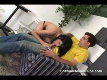 Brunette shemale getting fucked