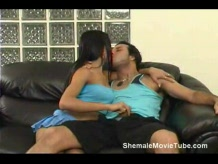 Asian shemale getting pounded