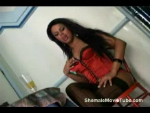 Shemale fucked by her man
